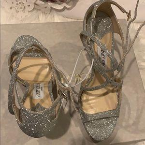 Jimmy Choo Lance Sandal Glitter